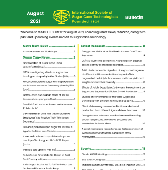 ISSCT August Bulletin